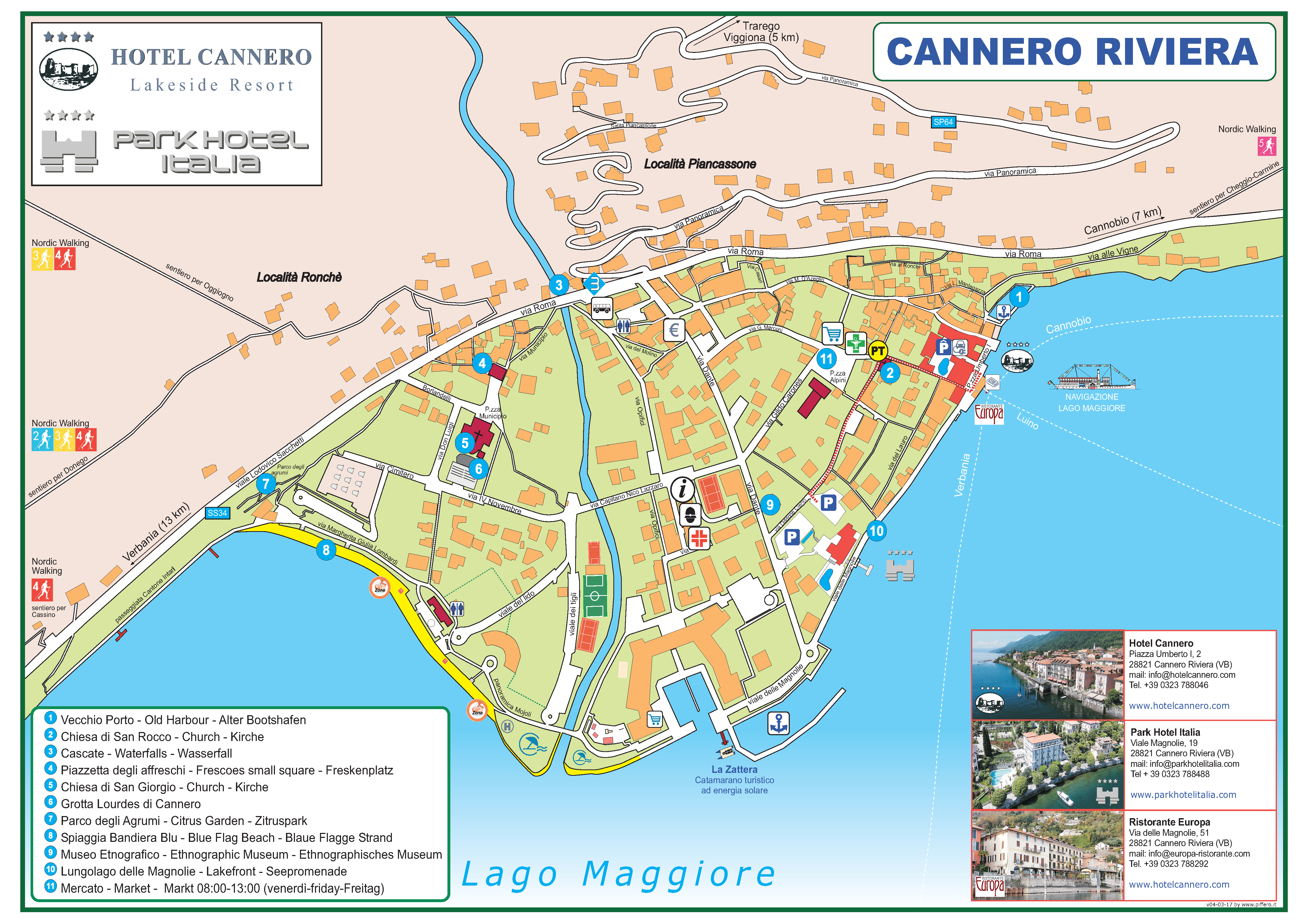 MAp Cannero - Albergo Cannero